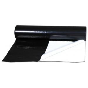 Bache Noir/Blanc 125μm - Rouleau (2x60m)