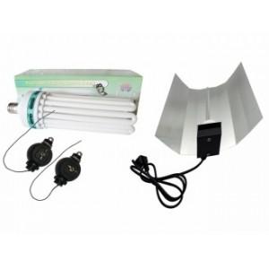KIT CFL 8U-200w-6400k (Croissance) + Réflecteur
