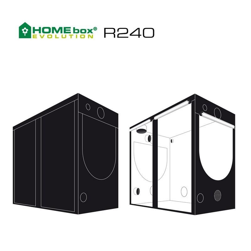 Homebox evolution r240 240x120x200cm - Chambre de culture 150x150x200 ...