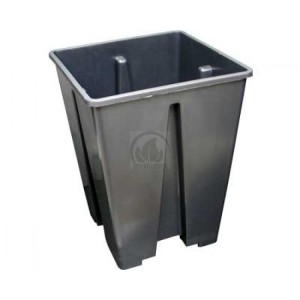 Pot Carré Noir Pro 3.4L (15x15x20cm )