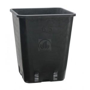 Pot Carré Noir Pro 6L (18x18x23cm)