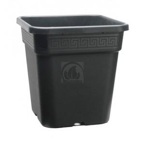 Pot Carré Noir Pro 25L (33.5x33.5x33.5cm)
